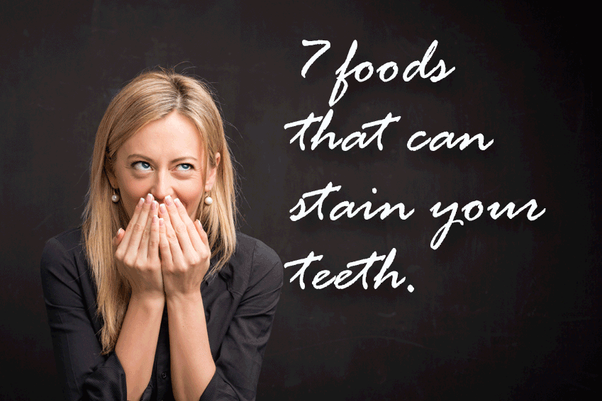 Foods that stain teeth